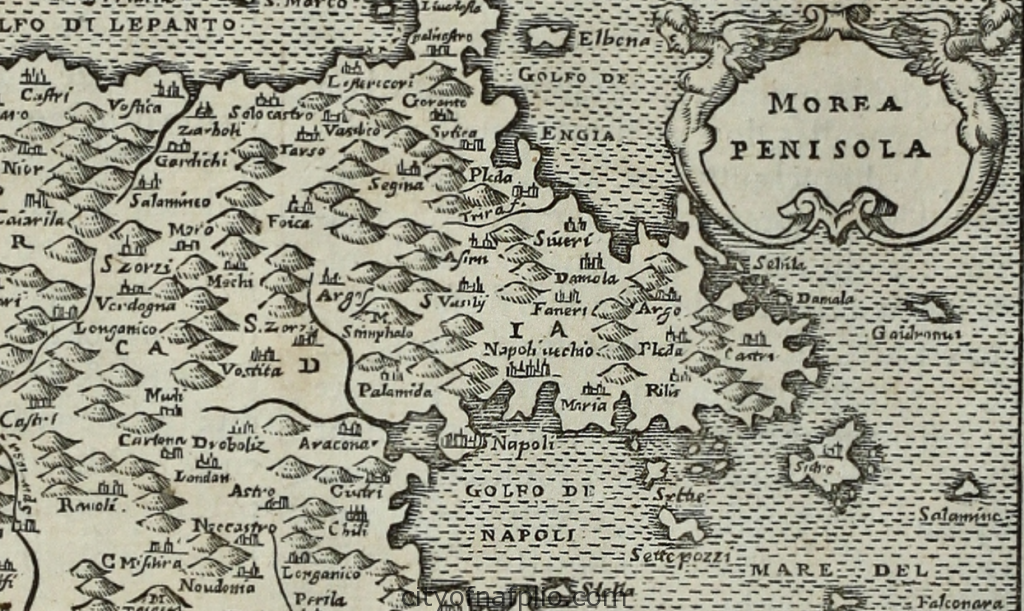 Antique Woodcut Map Of The Peloponnese Printed In Paris By Nicolas Chesneau Michel Sonnius In 1575 Argolis 1024x611 Png
